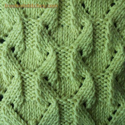 Lace Leaves Diamond Shape Interesting Diamond Knitting Pattern