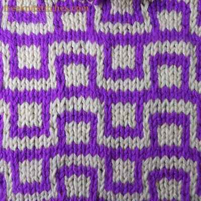 Color Knitting Patterns : How to knit a pattern with two colors Checkbox