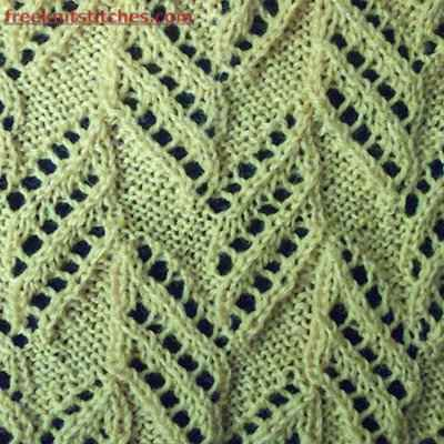 eyelet lace knitting patterns free Pillar