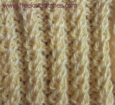 Spiral Rib knitting stitches
