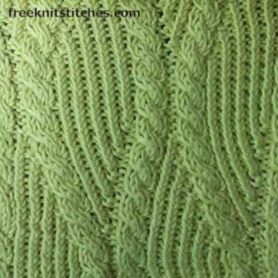 crossover scarf knitting pattern Sine Wave