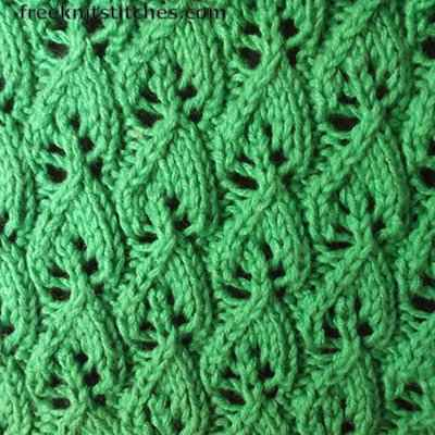 Wood Sorrel knitting stitches