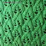 leaf lace scarf knitting pattern Wood Sorrel