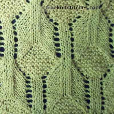 Lace Patterns Knit Geometric