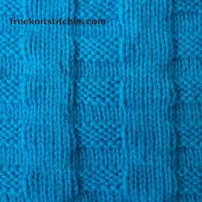Knit And Purl Stitch Patterns Rectangles