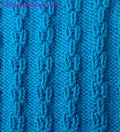 Ear knitting stitches