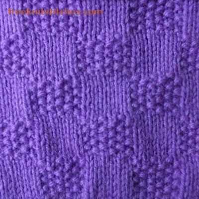 knitted scarf patterns for beginners Squares