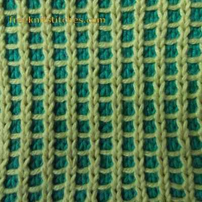 Color Knitting Patterns : Two colour pattern Grill