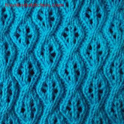 Knitting Stitch Patterns Leaf : Knit leaves Beads