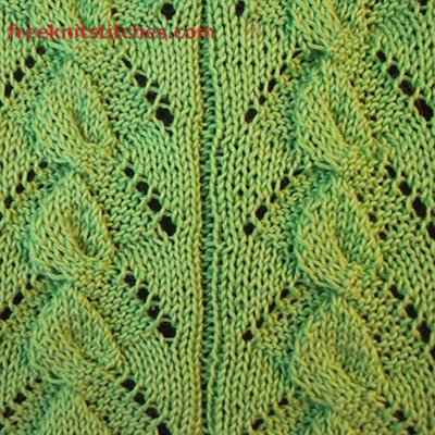 Bindweed knitting stitches