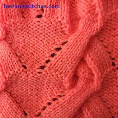 textured knitting stitch patterns Knot