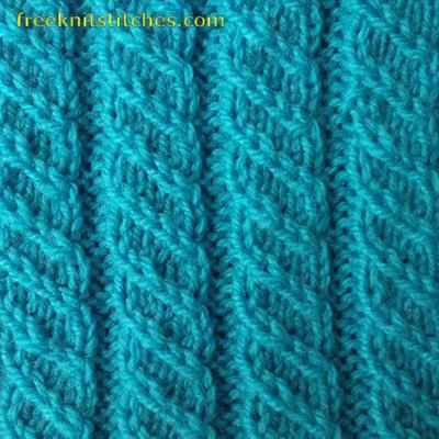 ribbed knit stitch Pigtail Rib