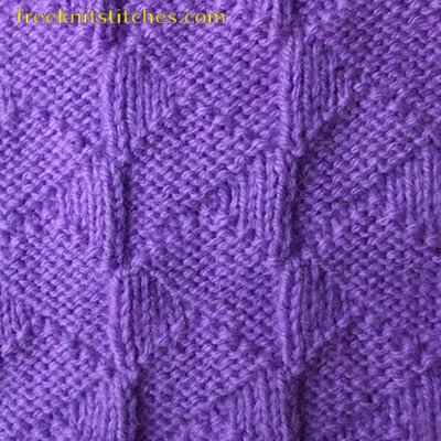 Tiling knitting stitches