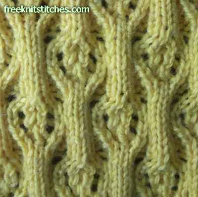 ribbed stitch knitting Rib with medallion