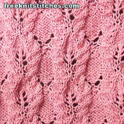 knit leaf lace pattern Bay Leaves