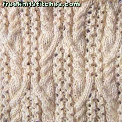Knitting Irish Stitches : Sweater stitches library Irish pattern