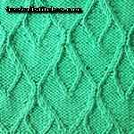 knit leaf pattern free Hearts