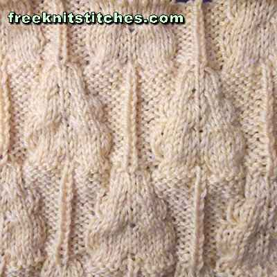 Oak leaf  knitting stitches