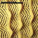 free easy lace scarf knitting pattern Hedgehogs