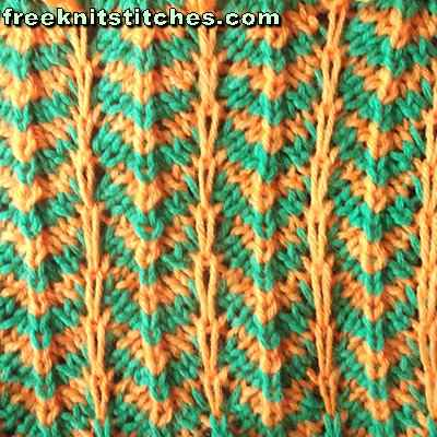 how to knit with two colors of yarn Ripple