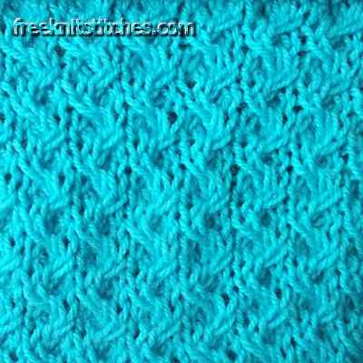 Moire knitting stitches