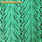 lace and eyelet knitting stitches Plantain