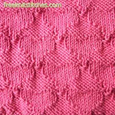 Textured Knitting Stitches Hearts