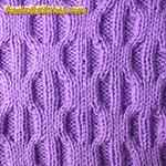 spider stitch knitting Bubbles
