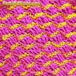 patchwork pattern of knit stitches Patchwork