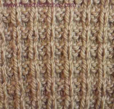 Vertical-horizontal rib knitting stitches