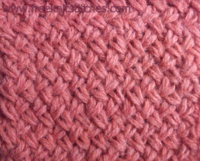 Astrakhan fur knitting stitches