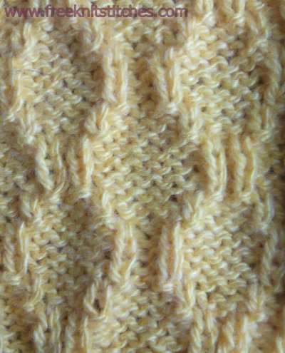 Oval track knitting stitches