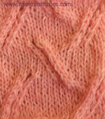 Oblique knitting stitches