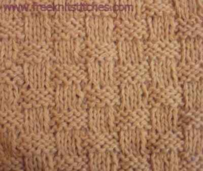 Wicker knitting stitches