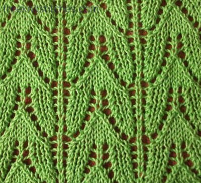 How To Knit A Lace Pattern Tulip