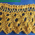 knitting pattern lace Droplet