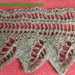 lace knit pattern Border with leaves