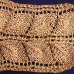 knit picture Leaves stripe
