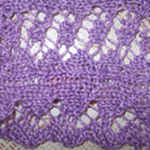 knitting in lace patterns Twisting