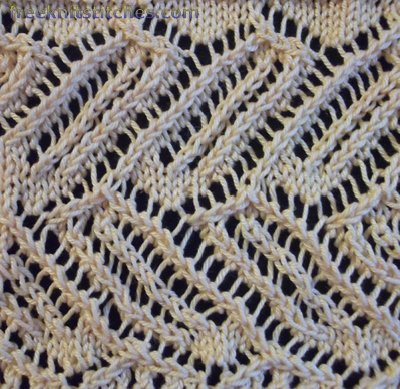 Lace insertion knitting stitches