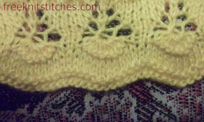 knitting knit stitch Flowers