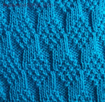 knit one purl one pattern Bricks