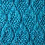 knitting patterns only knit and purl stitches Pine Cone