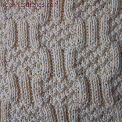 pearl stitch knitting Girandole
